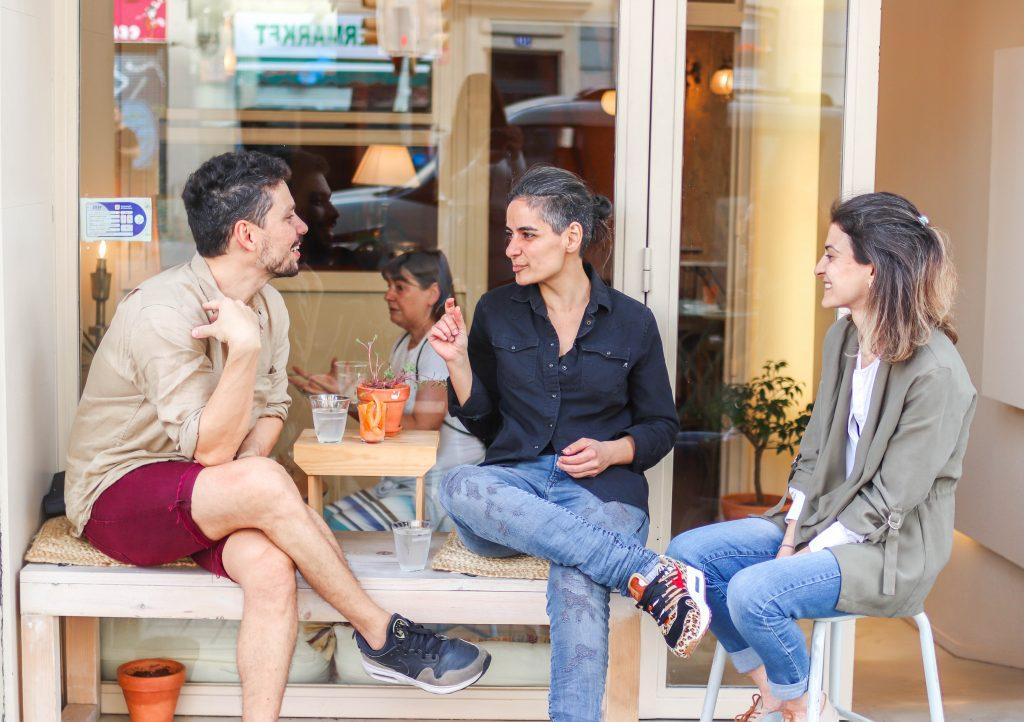 Local del restaurante en Madrid Aires de Beirut en Gracia