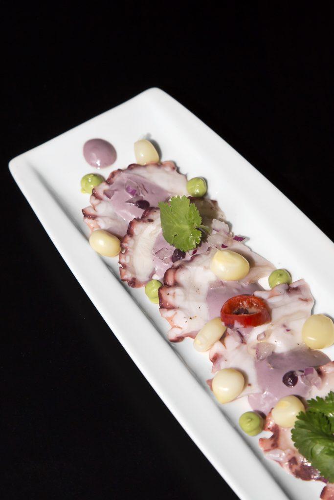 Plateselector - Tiradito de pulpo del restaurante Callao 24 de Madrid
