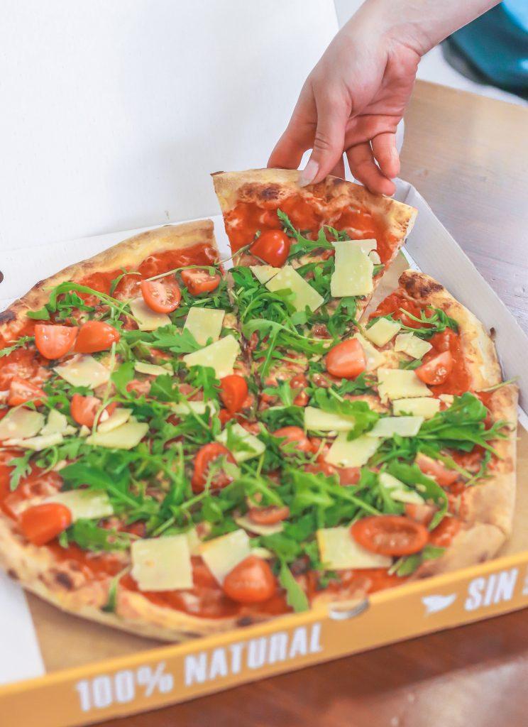 Plateselector - Pizza de la Pizzería Organika de Barcelona