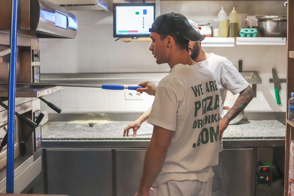 Plateselector - Cocina de la Pizzería Organika de Barcelona