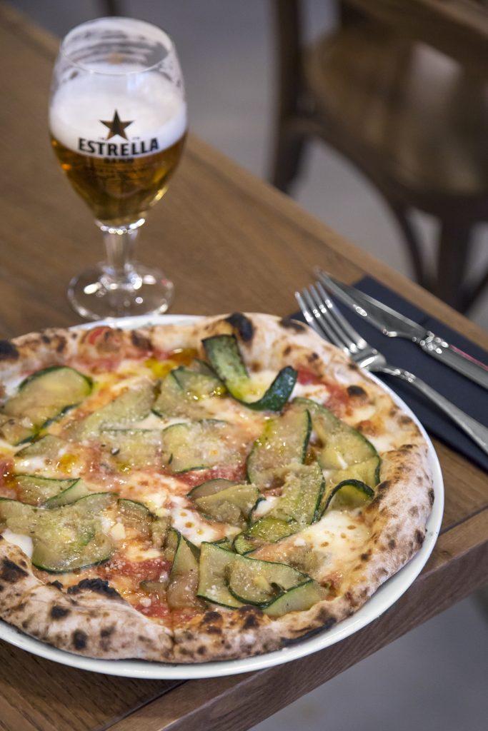 Plateselector - Pizza Zucchini del Restaurante Isabella de Madrid