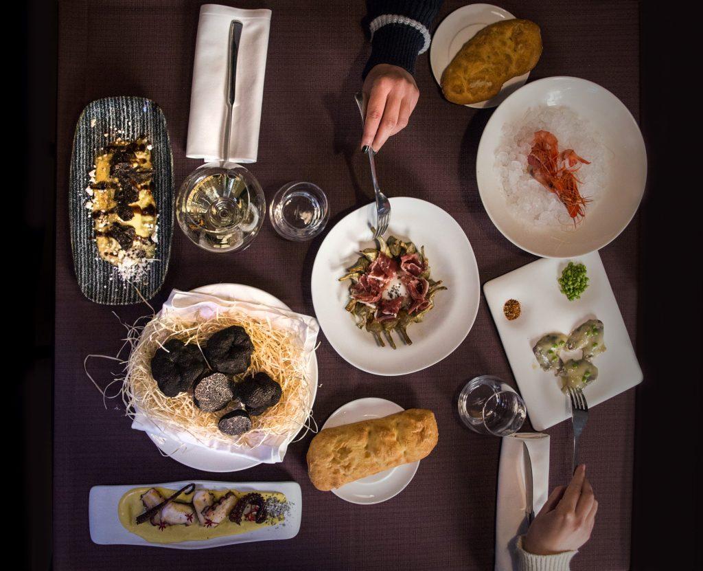 Plateselector - Platos del Restaurante Q'Tomas de Valencia