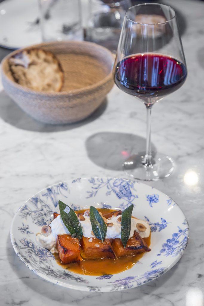 Plateselector - Calabaza con burrata del Restaurante Pedegrú de Madrid