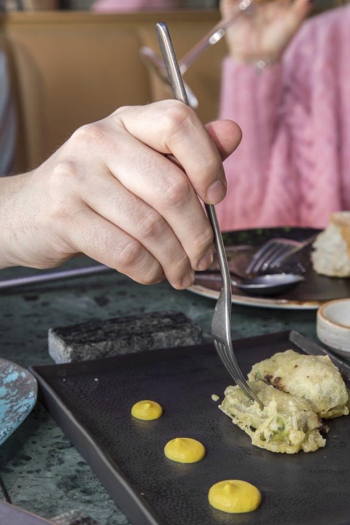 Plateselector - Calabacín en tempura del Restaurante My Way Sky de Madrid