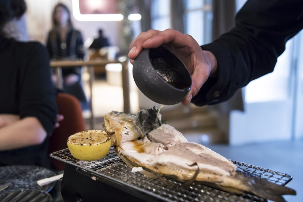 Plateselector - Roasted brazino del Restaurante Salvaje de Madrid
