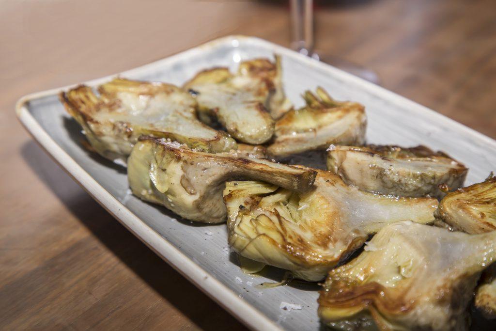 Plateselector - Alcachofas del Restaurante Escondite de Villanueva de Madrid