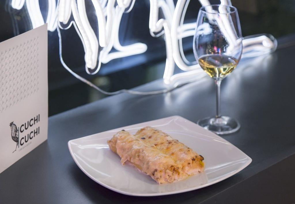 Plateselector - Canelón Graten del Restaurante Cuchi Cuchi de Madrid