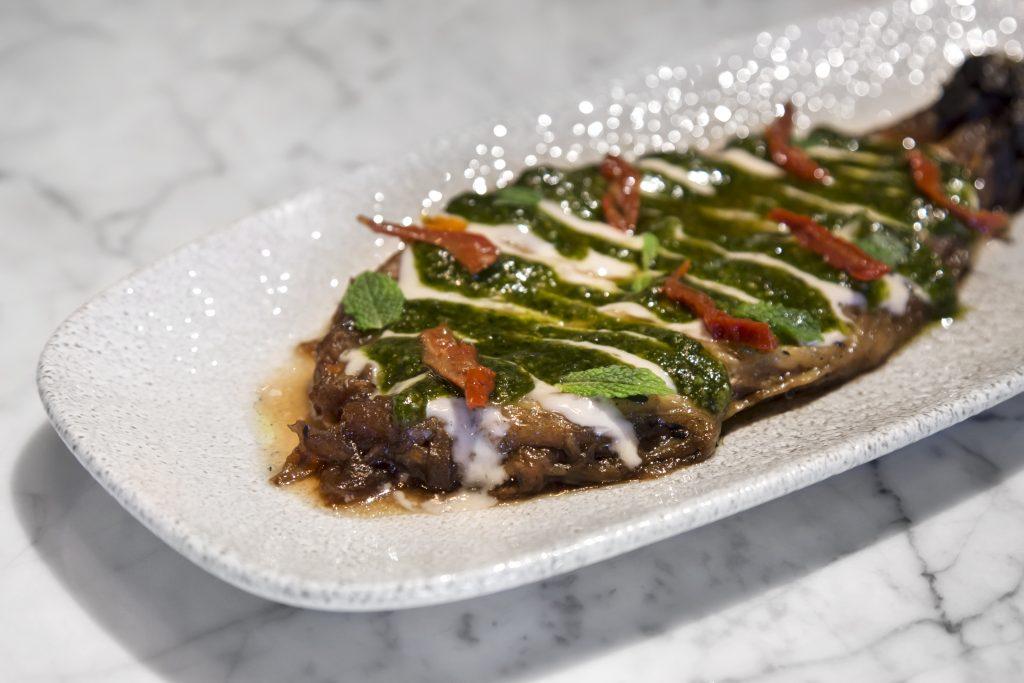 Plateselector - Berenjena asada del Restaurante Pedegrú de Madrid