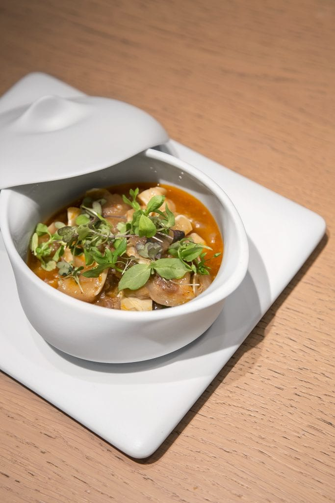 Plateselector - Oreja en salsa kimchi del Restaurante Sandó de Madrid
