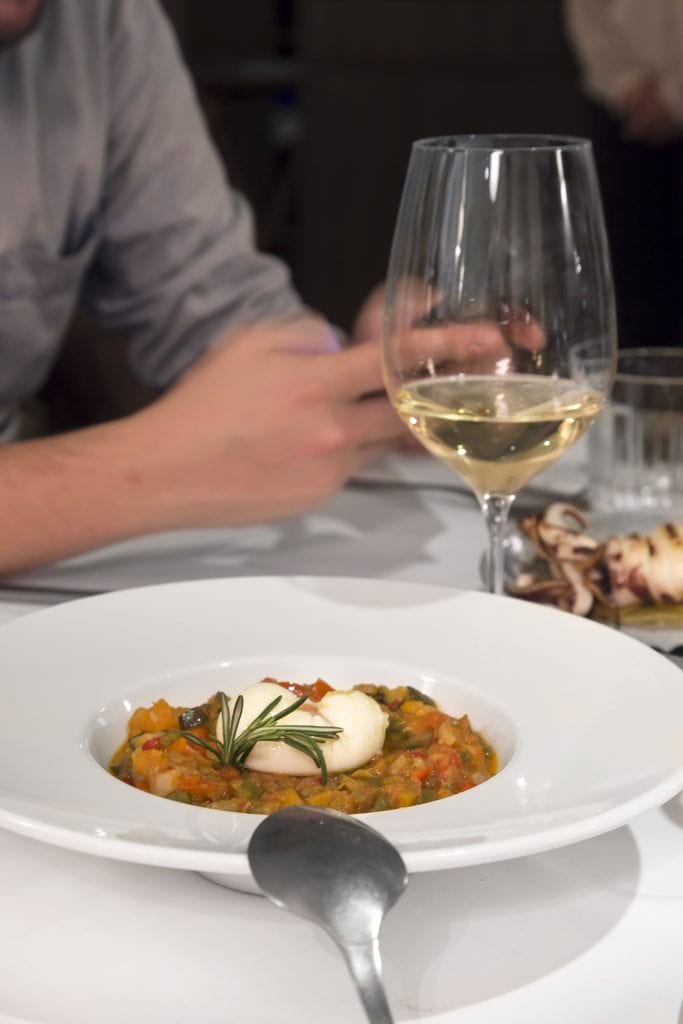 Plateselector - Pisto alboronia del Restaurante Prístino de Madrid